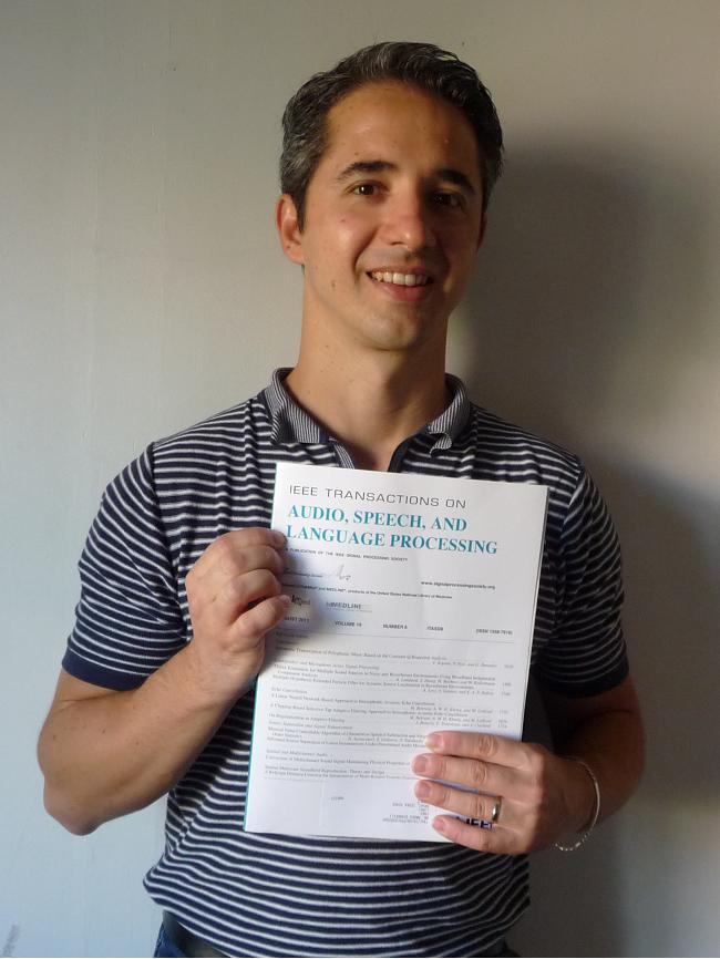Marco Dinarelli with his first journal publication in a IEEE review
